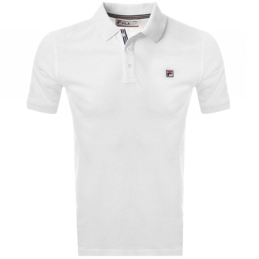 2017 FILA VINTAGE Brizzi Polo Shirt in White