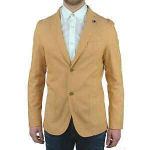 In Made Uomo Blazer Slim Italy Pochette Estiva Sartoriale Asquani Giacca Senape PSqw8znqx