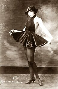 1921-Pretty-Young-Woman-in-Skirt-and-Hat-Vintage-Photograph-11-034-x-17-034-Reprint
