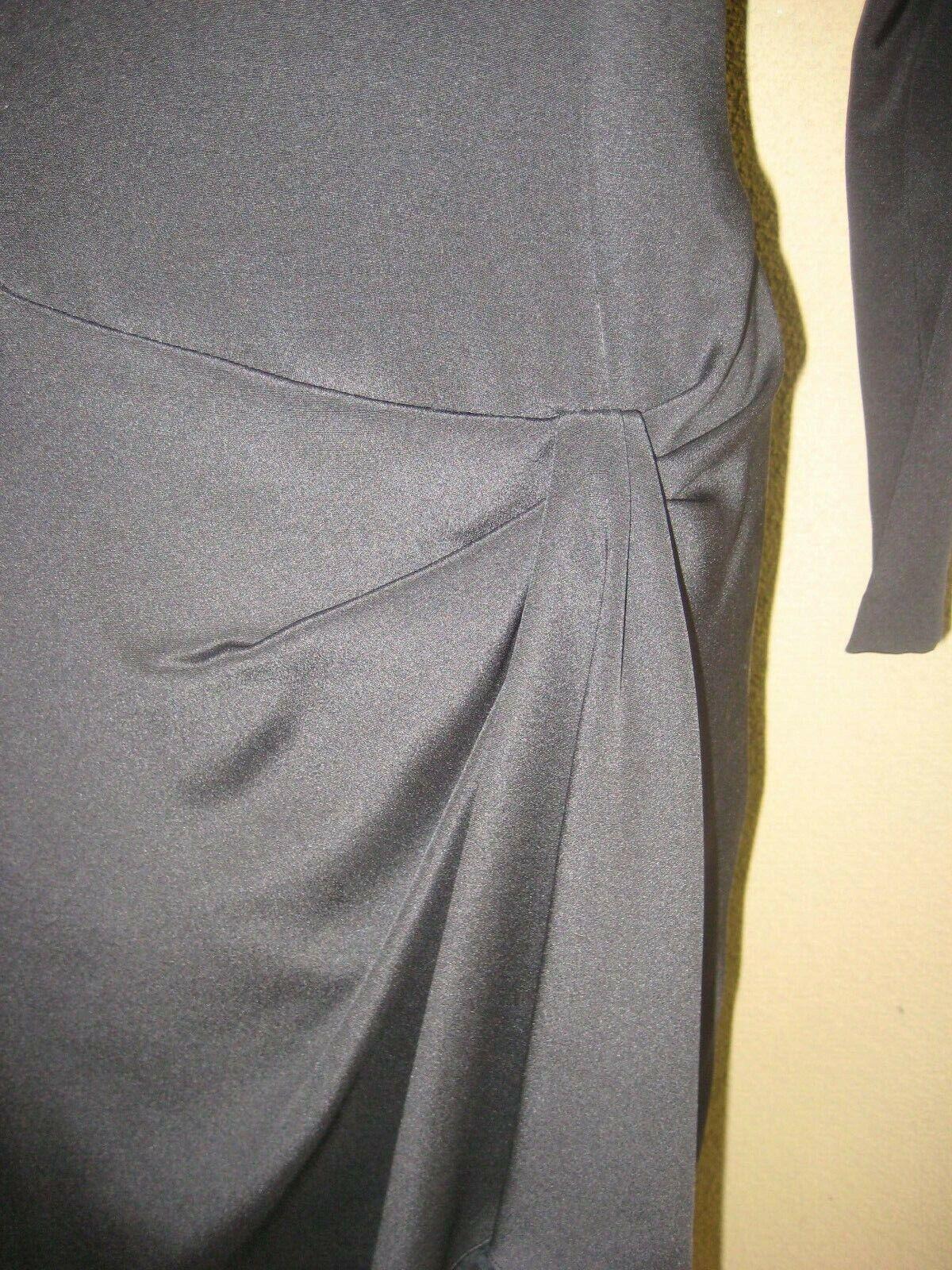 Vintage 1980's Travilla black drop waist LS lined… - image 3