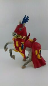 Figurine-animal-cheval-medieval-plastoy