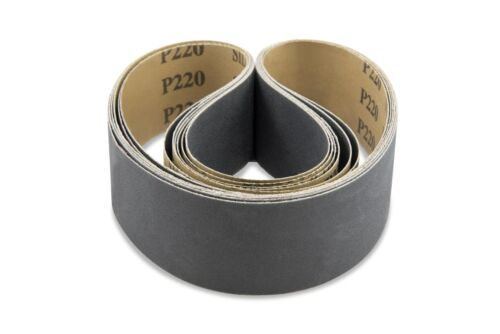 1 X 44 Inch 220 Grit Silicon Carbide Sanding Belts 12 Pack