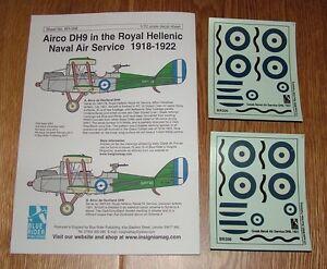1-72-scale-DECALS-AIRCO-DH9-ROYAL-GREEK-NAVAL-AIR-SERVICE-1921-BLUE-RIDER