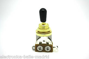 3 WAY GOLD TOGGLE SWITCH BLACK PICKUP SELECTOR FOR GIBSON EPIPHONE SG LES PAUL