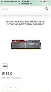 Details about WANTED: trident z 3200mhz ram G-Skillz red