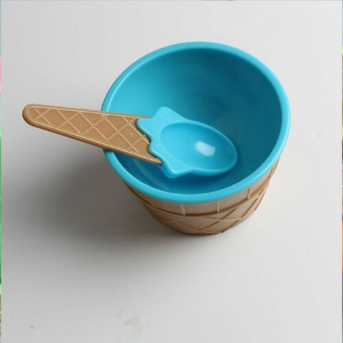 Cream Cup Ice Cream Scoops Dessert Container Holder With Spoon Ice Cream Bowls