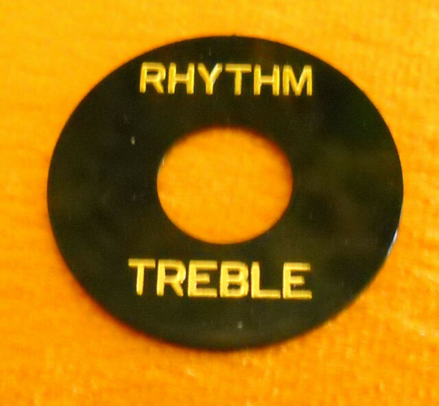 Switch Washer / Pickup Selector Ring - Black w/ Gold Letters