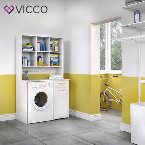 Badmobel Mit Waschmaschinenschrank.Vicco Waschmaschinenschrank 185 X 103 Cm In Weiss Badmobel Badschrank