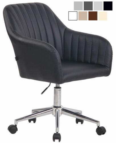 Bürostuhl Filton Kunstleder Drehstuhl Stoff Schreibtischstuhl Chromgestell