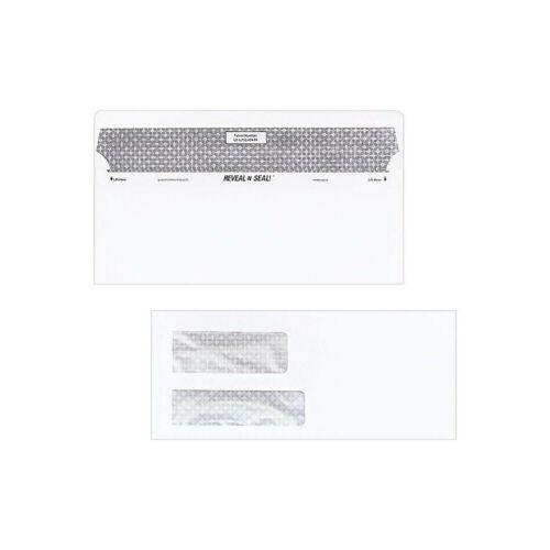 Staples Self-Sealing Sec Tint Double Window #10 Env 4 1//8 x 9 1//2 We 500//Bx
