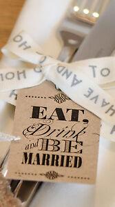 24 Vintage Shabby Chic &#034;Come la Bebida y estar casado » Boda favor Etiquetas  </span>