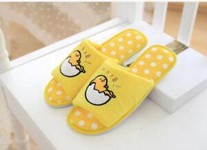 2855e89bd76 Image is loading Gudetama-eggshell-sitting-open-toe-indoor-antiskid-shoes-