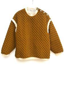 Novità Top Small 004 Mostard Felpa 4432 Size Zara trapuntata 8aCqOw