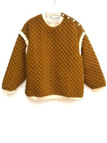 Felpa Zara Mostard Size 4432 004 Small Novità trapuntata Top UB75w7q
