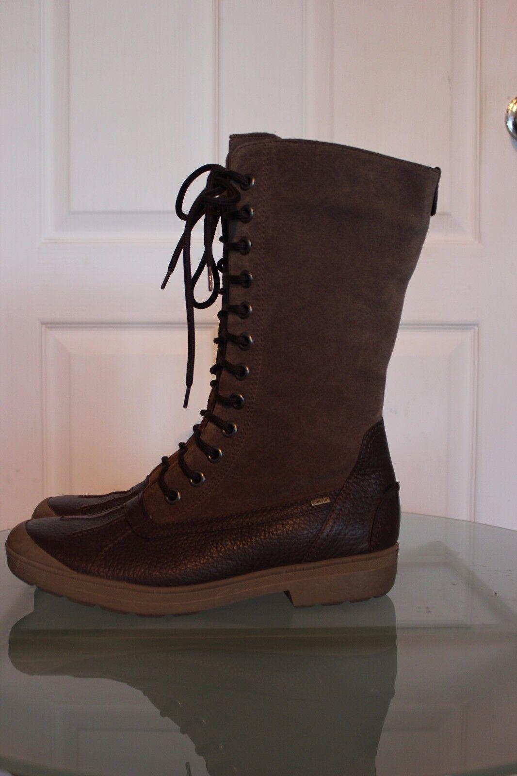 HOGL Braun Echtleder+Gore-Tex Stiefel mit Wolle,Gr. 42 UK8, NP  ,2x getragen