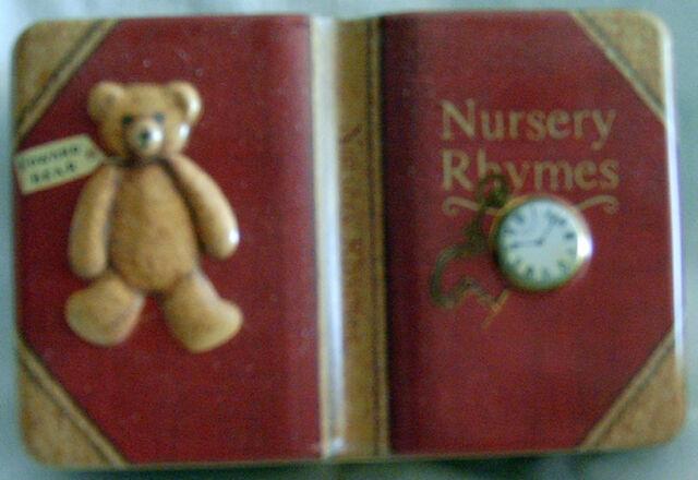 Cookie Tin - Nursery Rhymes 2-D Mini Decorative