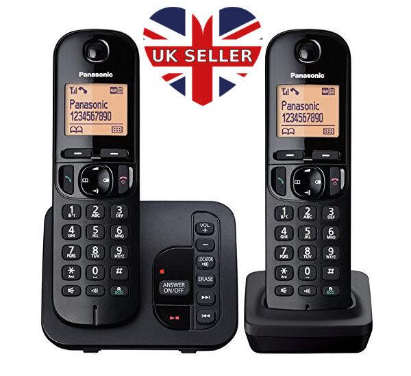 Panasonic KX-TGC222EB Digital Cordless Phones With LCD Display 1 - 4 handsets