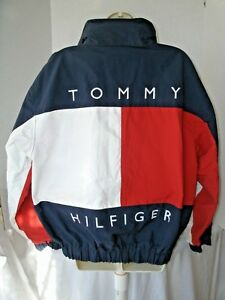 Vintage Tommy Hilfiger Spell Out Flag Reversible Sailing Jacket Size