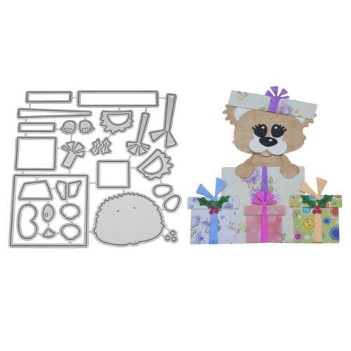 Bear Gift Cutting Dies Metal Stencil DIY Scrapbooking Paper Card Embossing Craft