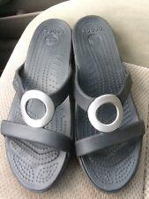 ca760ce95e74d item 6 Women s Crocs Sarah black   gray synthetic wedge slide sandals size 8  VGUC -Women s Crocs Sarah black   gray synthetic wedge slide sandals size 8  ...