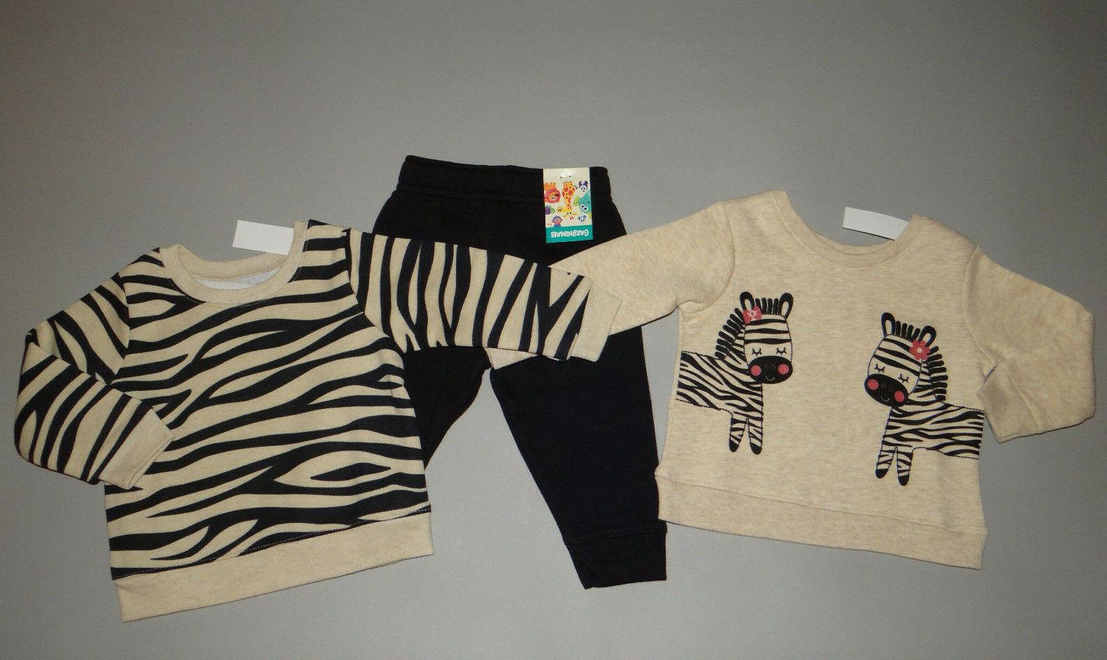 NWT, Baby girl clothes, 6-12 months, Garanimals sweatshirts/pants