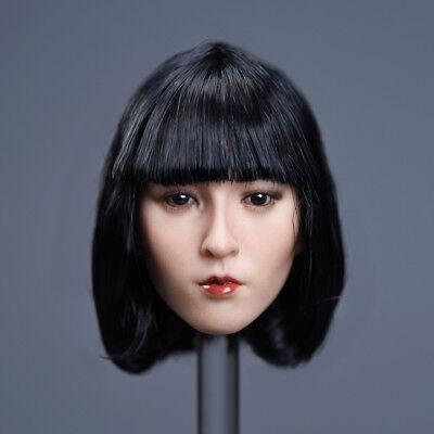 "Custom 1//6 Scale YMTOYS Xiu-B Short Black Hair Head Sculpt F 12/"" Figure Body New"