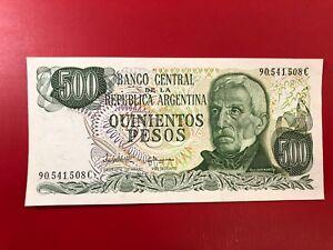 America-Argentina-500-Pesos-1977-82-Fds-UNC-P-303c