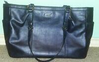 Authentic Coach Tote Bag Purse Leather Denim Color East West