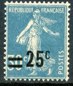 STAMP-TIMBRE-FRANCE-NEUF-N-217-TYPE-SEMEUSE-SURCHARGE