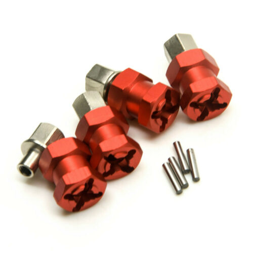 12mm Wheel Hub Hex Drive Adaptor 15mm Offset For 1//10 SCX10 Wraith Red Aluminum