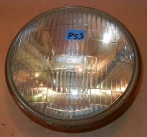 "Triumph Norton BSA Lucas 7"" headlight GLASS UNIT ONLY, bar logo type, USED %P53"
