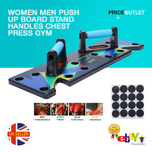 Push Up Board Stand Handles Chest Press Gym Fitness Muscle Exercise Women Men