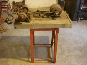 Antique Apex 1 4 Hp Motor Belt Drive Bench Grinder Tool