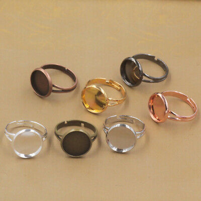 HOT Blank Ring Base Tray Jewelry Making Adjustable Findings Cabochons Settings