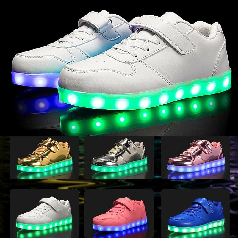 LED Trainers Shoes Boys Girls Light up