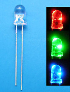 1000pcs 5mm Rgb 2-pin Slow Flash Round Led Lamps Rainbow Blink Water Clear Diodes