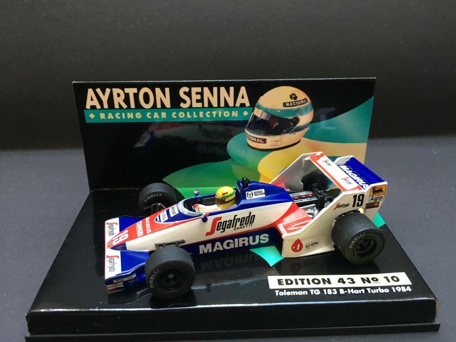 buona qualità Minichamps - Ayrton Senna - Toleuomo Toleuomo Toleuomo - TG 183B  - 1 43 - 198 - ASC 10  qualità autentica