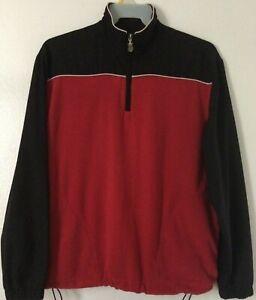 Callaway-Golf-Sport-Men-Size-Medium-1-4-Zip-Pullover-Fleece-Sweatshirt-Jacket