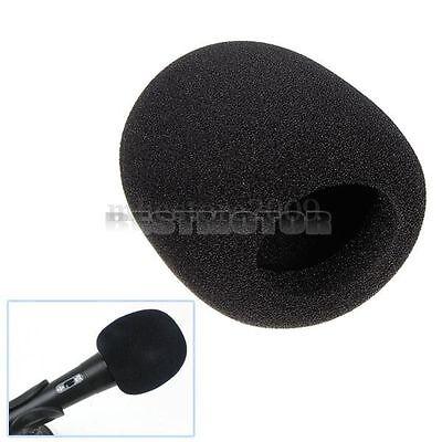 5Pcs Black Handheld Stage Microphone Windscreen Sponge Mic Cover Karaoke DJ
