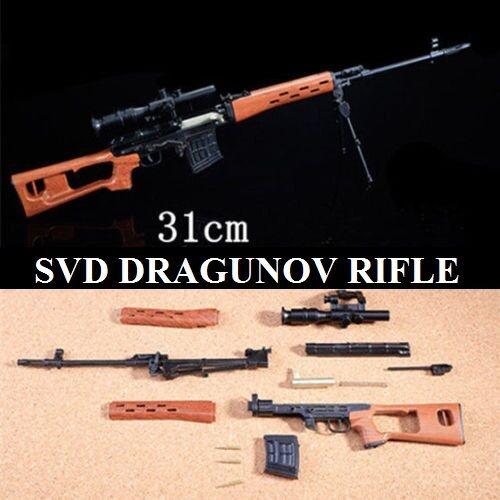 1 4 SCALE SVD DRAGUNOV - SOVIET RUSSIAN SNIPER DIECAST METAL AK47 MODEL SPETZNAZ
