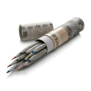 Modernist-Recycled-Newspaper-Paper-12-Coloured-Pencil-Drawings-Crayon-Set