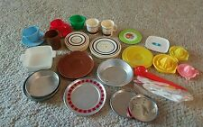 Vintage assorted doll dishes