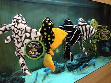 All 5 Plecostomus TOY Plush Plushie sucker fish plec YES