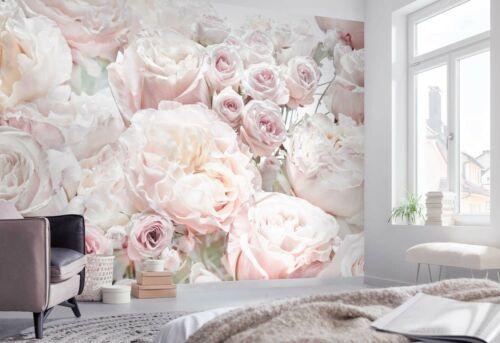 368x254cm wallpaper mural Spring Roses pink floral photo bedroom wall art