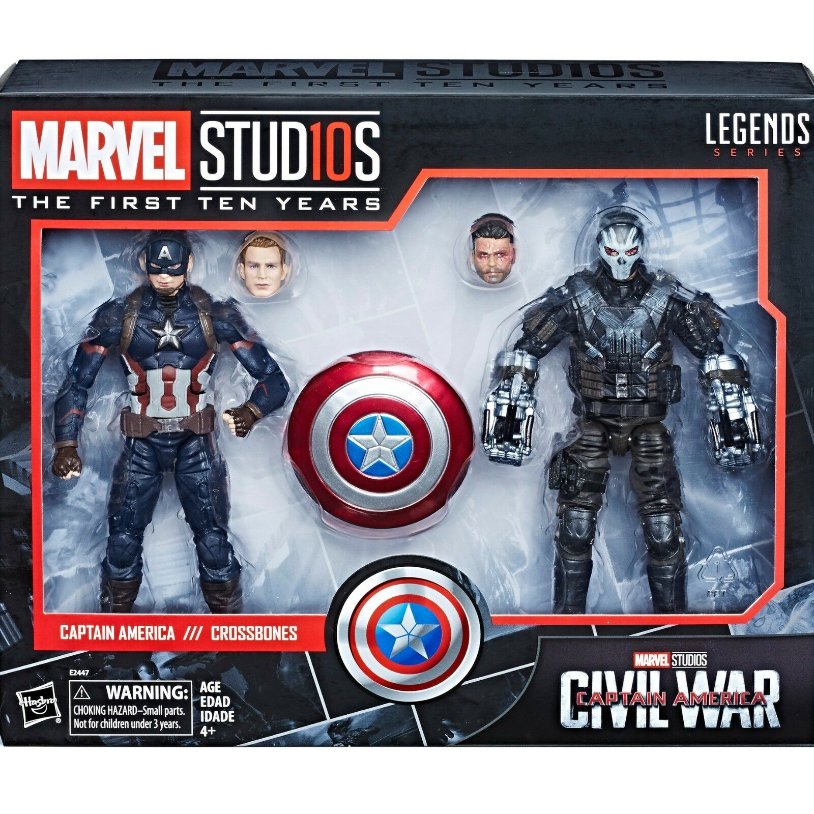 MARVEL LEGENDS 10th anniversaire Cinematic Universe  009 CAPTAIN AMERICA Crossbone  plus d'escompte