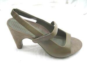 NEW-Tsubo-10M-brown-slingbacks-womens-shoes-heels-pumps-sandals-AF10-BRN