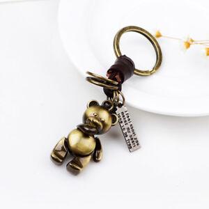 Popular Vintage Retro Jewelry Women s Men s Bear Leather Key Ring ... 88610d1182