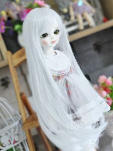 "6-7/"" 1//6 BJD Snow White Curly Hair End Long Wig LUTS Doll SD DZ DOD MSD HUAL#"