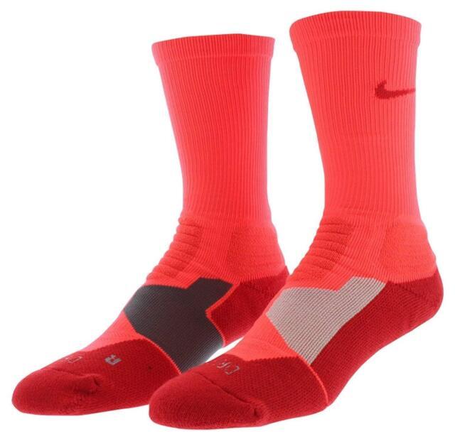 Nike Men's Hyper Elite Basketball Socks LARGE SX4801-665 Bright Crimson