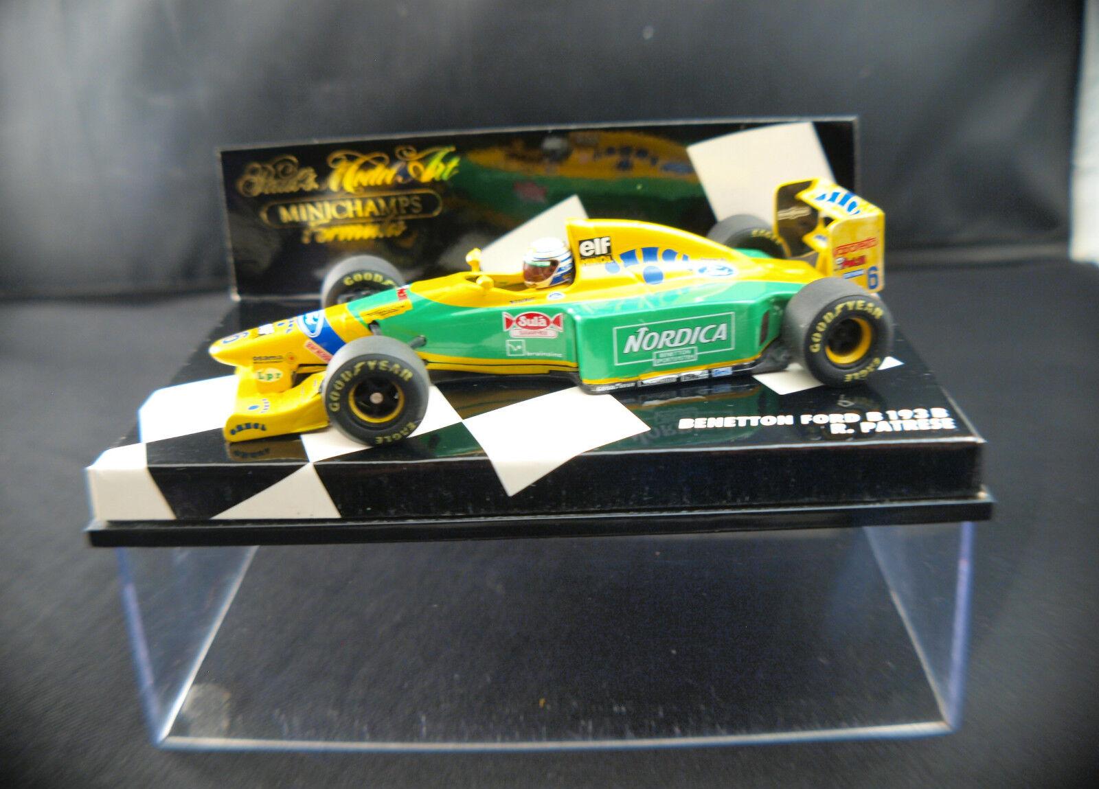 Minichamps ◊F1  Benetton Ford B193 B R.Patrese Nordica ◊1 43  ◊ boxed   en boîte